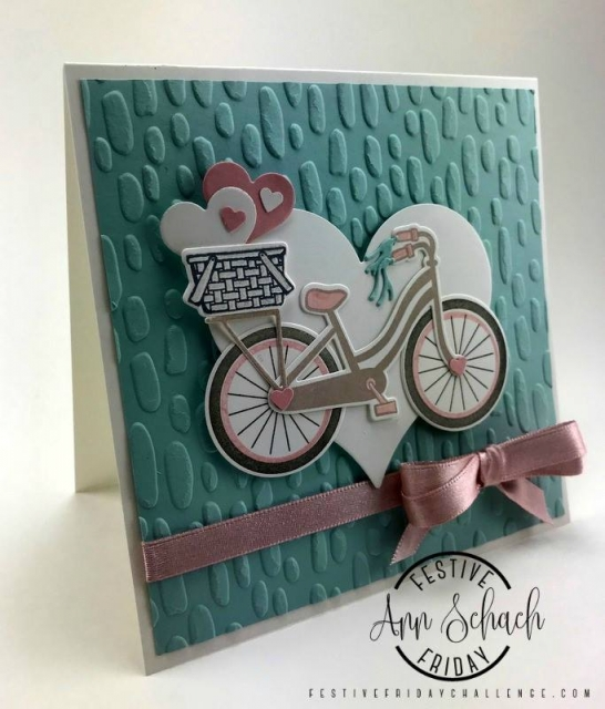 Festive Friday designer and Stampin Up demo Ann Schach. https://stampinchic.com/#festivefridaychallenge #ff0001