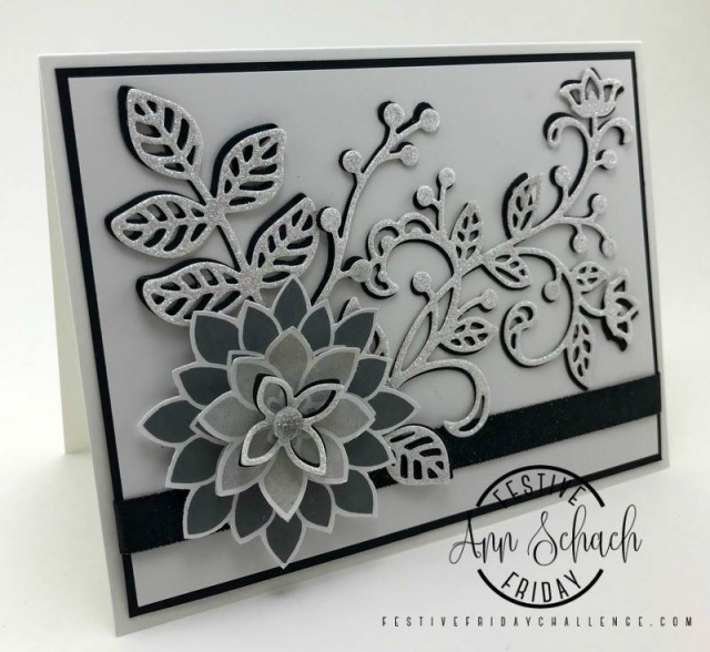 Festive Friday designer and Stampin Up demo Ann Schach. https://stampinchic.com/#festivefridaychallenge #ff0003