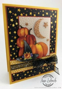 #FF0019, Festive Friday Challenge Designer- Ann Schach, Stampin Up, Halloween, Black