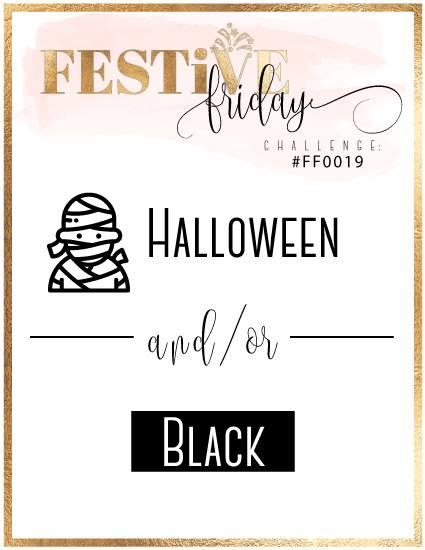 #festivefridaychallenge, #FF0019, Stampin Up, Halloween, Black