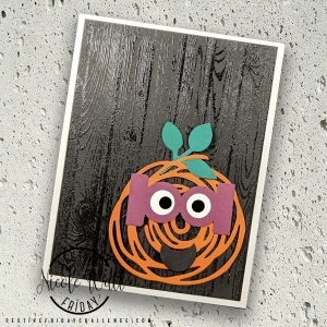 #FF0019, Festive Friday Challenge Designer- Nicole Watt, Stampin Up, Halloween, Black