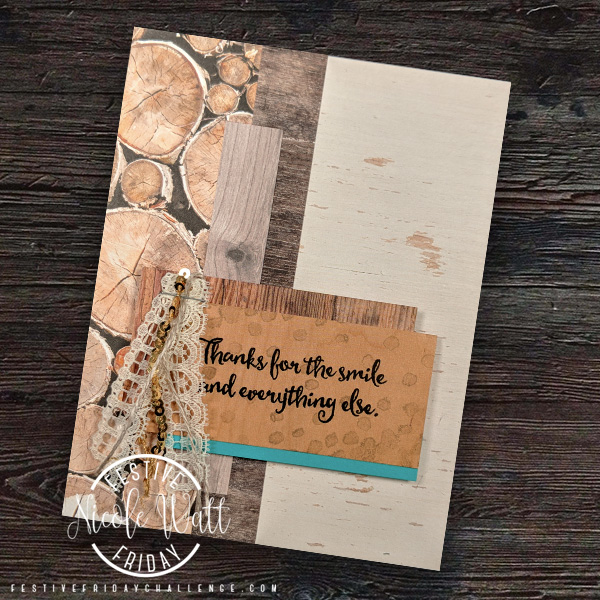 #FF0020, Festive Friday Challenge Designer- Nicole Watt, Stampin' Up, thank you