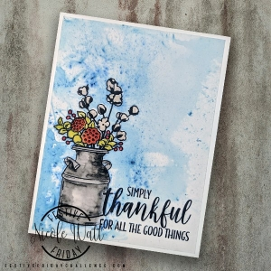 #FF0021, Festive Friday Challenge Designer- Nicole Watt, Stampin Up