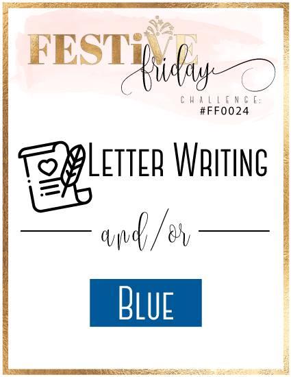 #festivefridaychallenge, #FF0024, Stampin Up, Blue