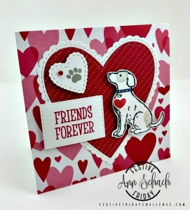 #FF0026 Festive Friday designer- Ann Schach, Stampin Up Valentine's Day
