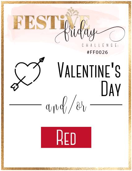 #festivefridaychallenge, #FF0026, Stampin Up, Valentine's Day, Red