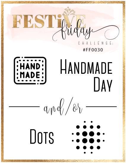 #festivefridaychallenge, #FF0030, Stampin Up, Handmade, Dots