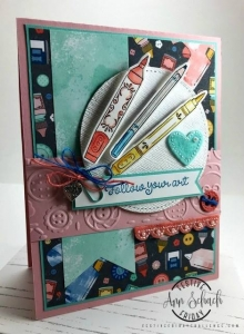 #FF0034, Festive Friday Challenge Designer- Ann Schach, Creativity, Stampin Up