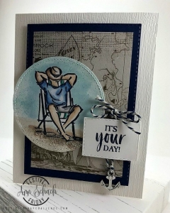 #FF0035, Festive Friday Challenge Designer- Ann Schach, Stampin Up, Father's Day, Blue