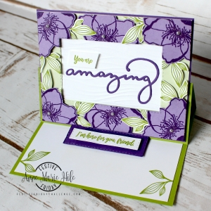 #FF0034, Festive Friday Challenge Designer- Anne Marie Hile, Creativity Day, Fun Fold, Stampin Up