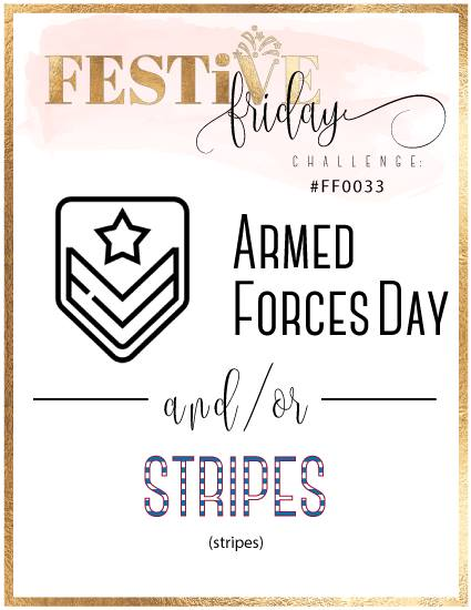 #festivefridaychallenge, #FF0033, Armed Forces Day, Stripes