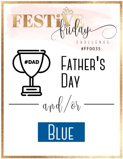 #FF0035, #festivefridaychallenge, Father's Day, Blue