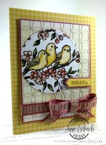 #FF0037, Festive Friday Challenge Designer- Ann Schach, Yellow