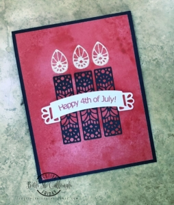 #FF0036, Festive Friday Challenge Designer- Beth McCullough, Summer,4th of July