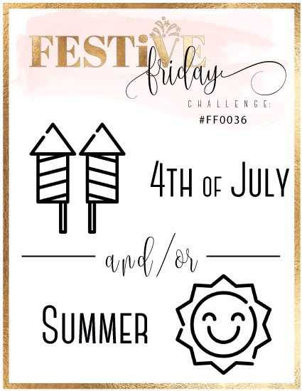 #festivefridaychallenge, #FF0036, 4th of July, Summer