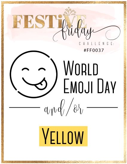 #festivefridaychallenge, #FF0037, World Emoji Day, Yellow