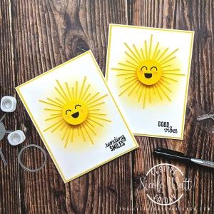 #FF0037, Festive Friday Challenge Designer- Nicole Watt, world Emoji Day, Yellow