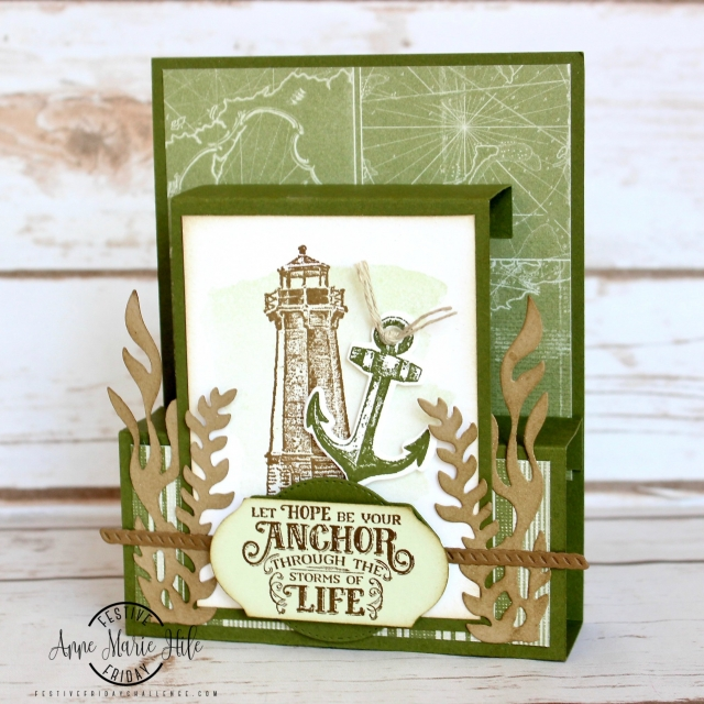 #FF0039, Festive Friday Challenge Designer-Anne Marie Hile, Lighthouse Day