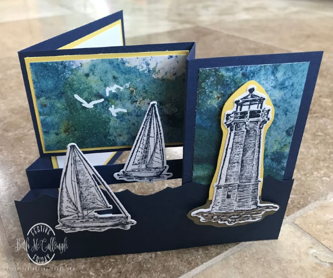 #FF0039, Festive Friday Challenge Designer- Beth McCullough, Lighthouse Day